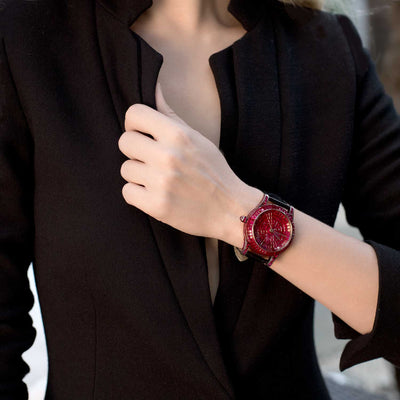 MOSAIC Watch, Rubies - STENZHORN JEWELLERY