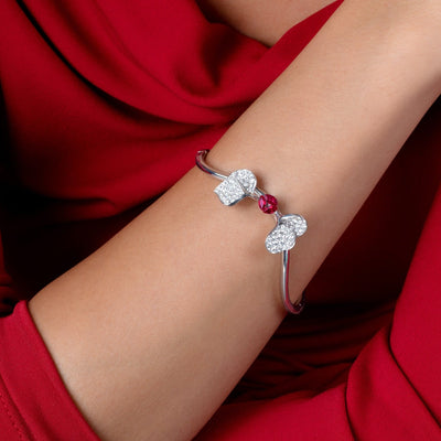 À FLEUR DE PARIS Ruby Double Leaf Bangle