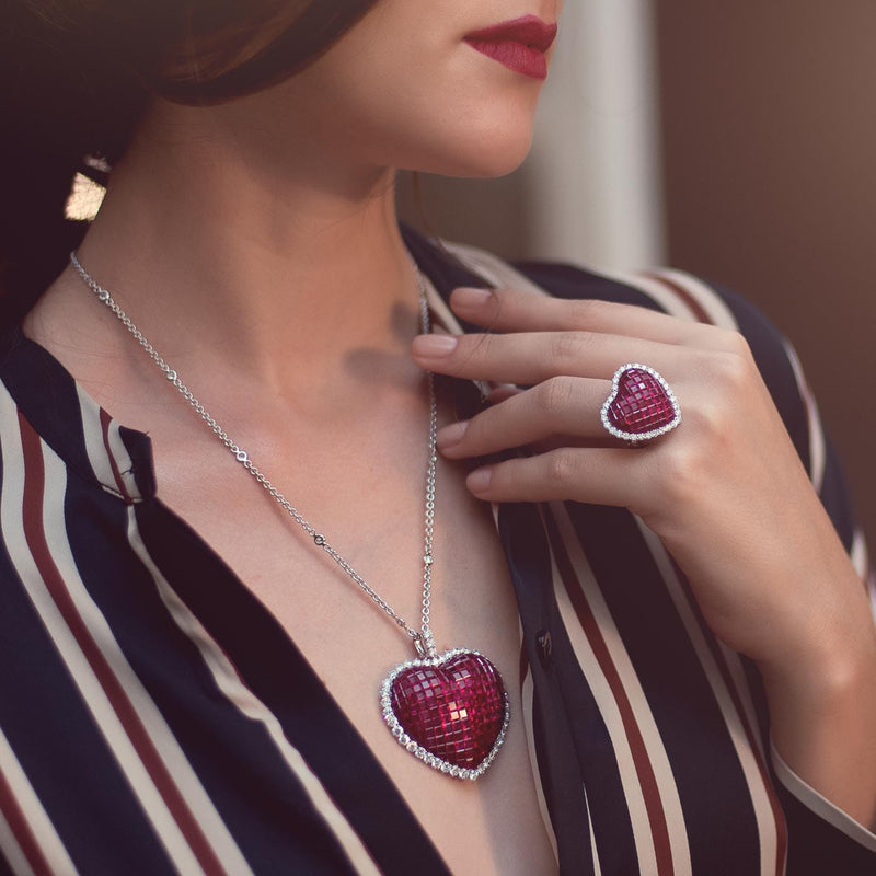CLASSICAL, Love Keepers Ruby Pendant, smaller