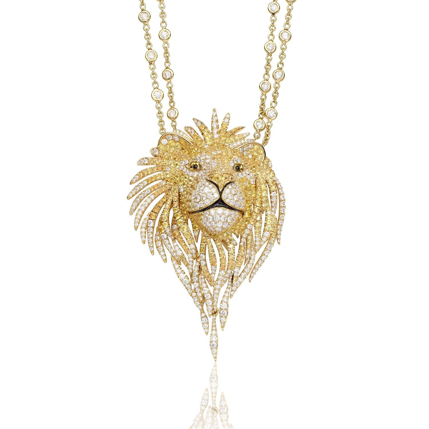 SAVAGES Lion Pendant Yellow