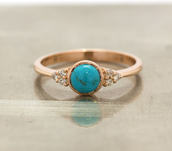 vintage turquoise engagement ring