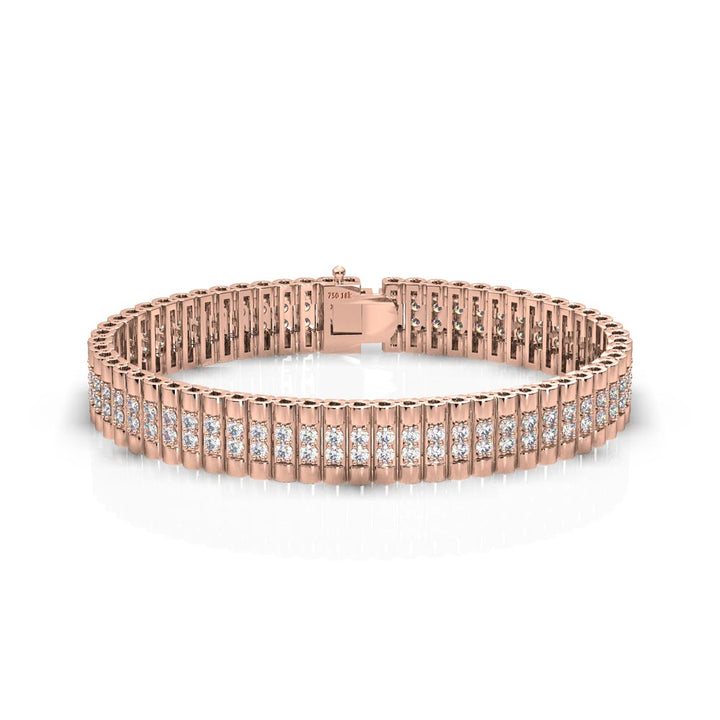 18k rose gold rolex diamond bracelet