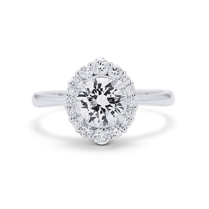 White Sapphire Engagement Ring
