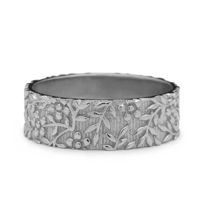 Moroccana Foliage Wedding Ring