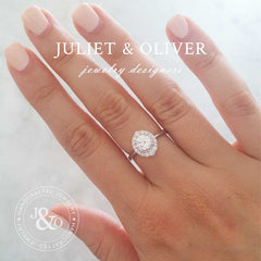 2 carat white sapphire engagement ring