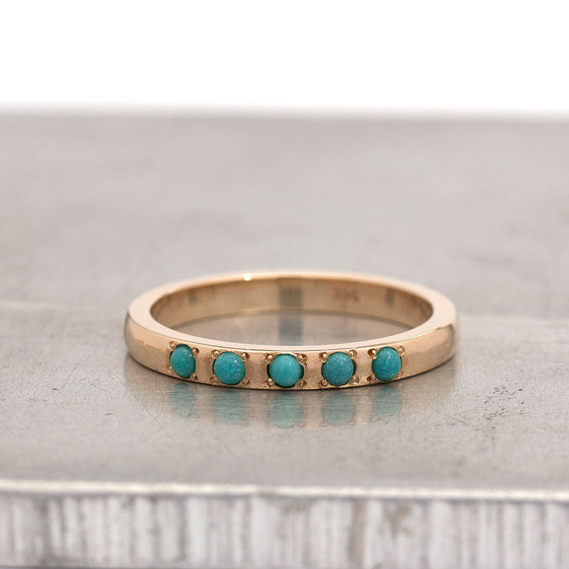 Persian Turquoise Wedding Ring - Aliyah Ring