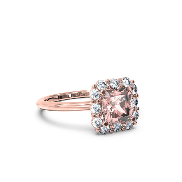 The Rose Quartz Charlotte Ring