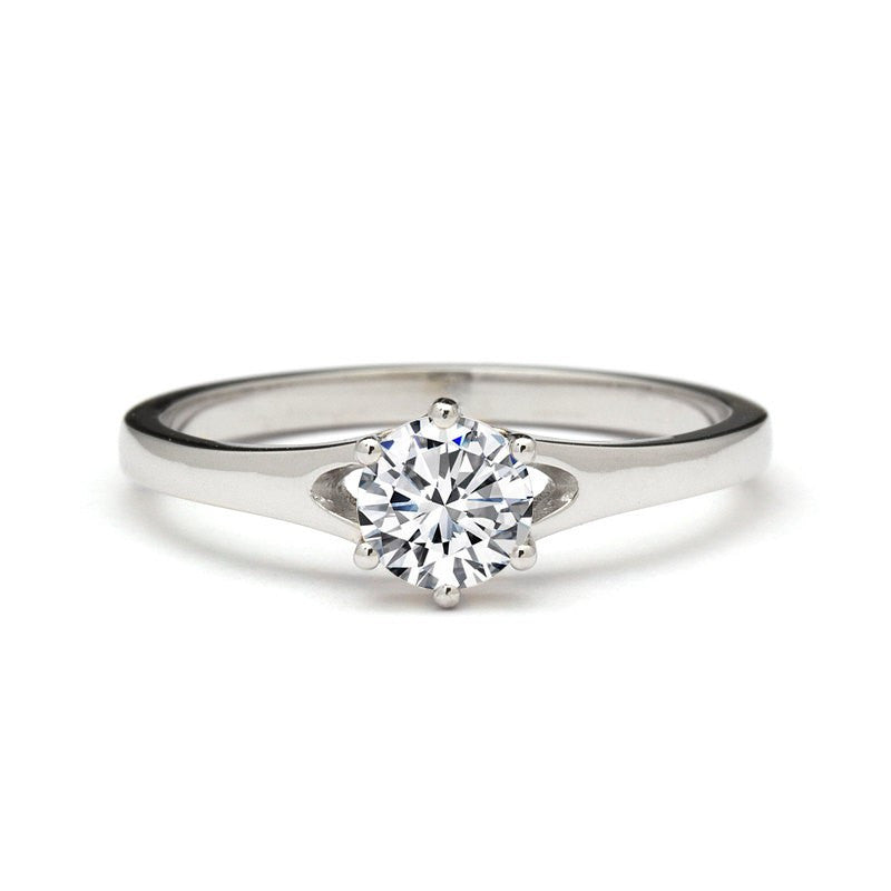 dainty engagement ring diamond