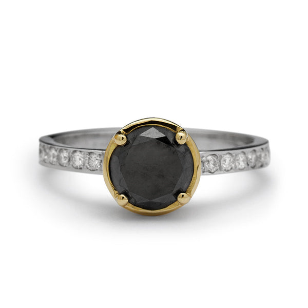 Antique Style Two Tone Black Diamond