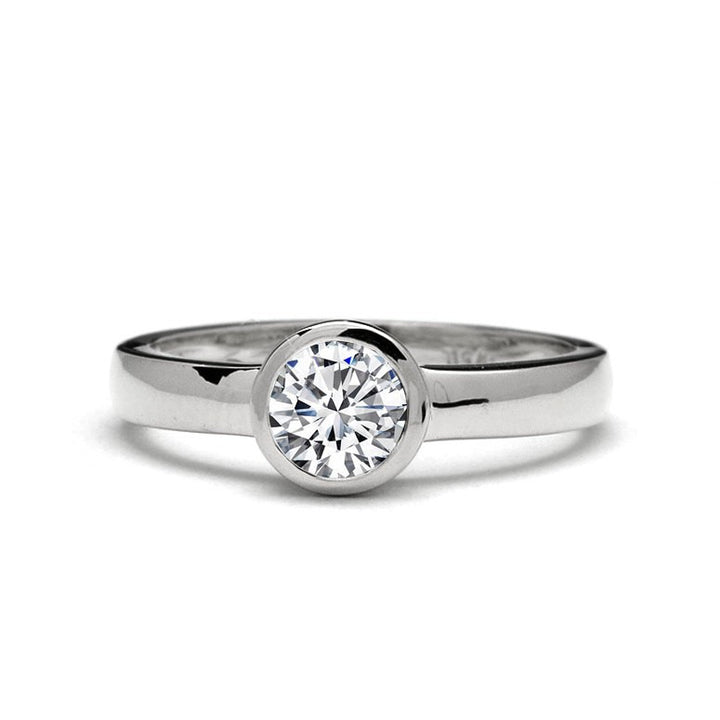 low profile engagement ring
