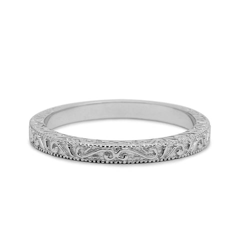 CASABLANCA SCROLLS WEDDING RING