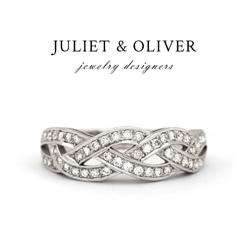 Infinity Wedding Band.The Bisou Diamond Wedding Band