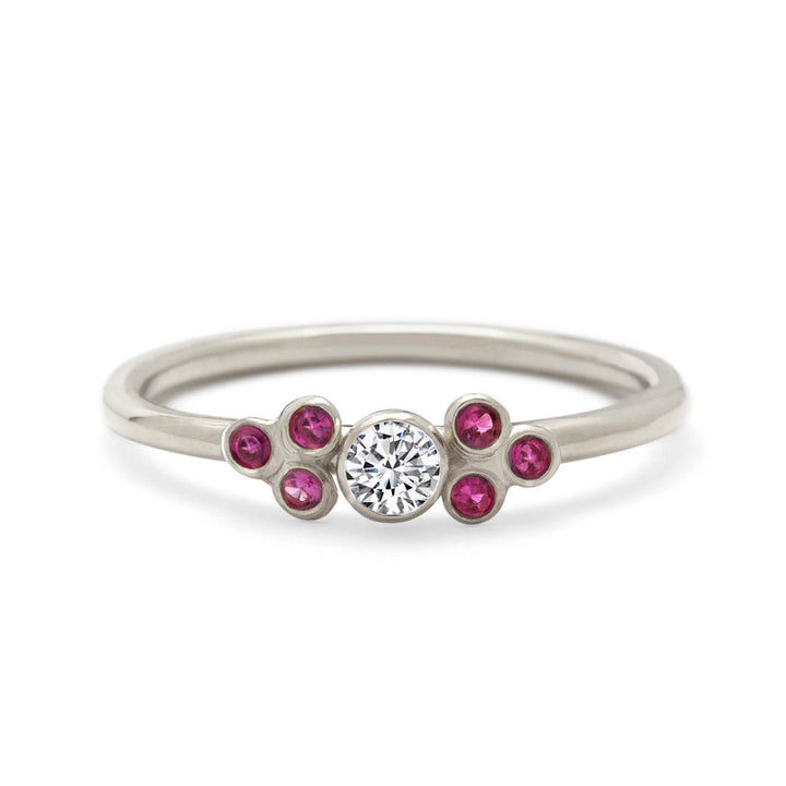 Diamond Ruby Engagement Ring