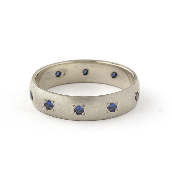 IMANE BLUE SAPPHIRES ETERNITY RING