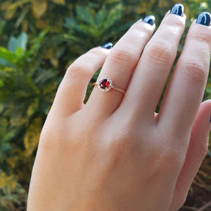 The Garnet Rosso Engagement Ring