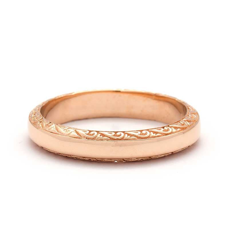 Kissane Scrolls Wedding Ring
