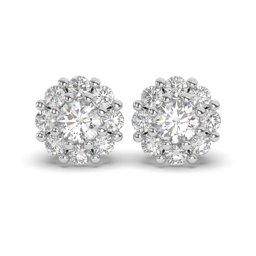 Diamond Flower Stud Earrings 0.50 ct. tw.