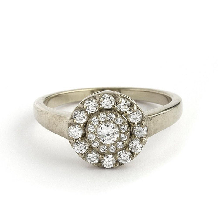 Art Deco Inspired Engagement Ring - Lia