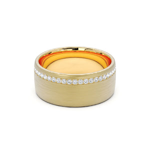 Men's Wide Ring With Diamonds