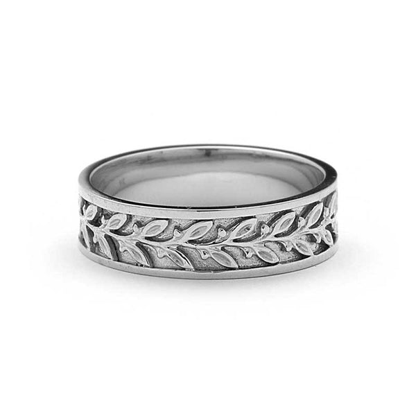 NOUVEAU BOUQUET LEAF WEDDING BAND