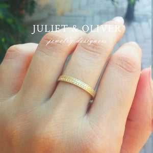 vintage wheat wedding ring yellow gold