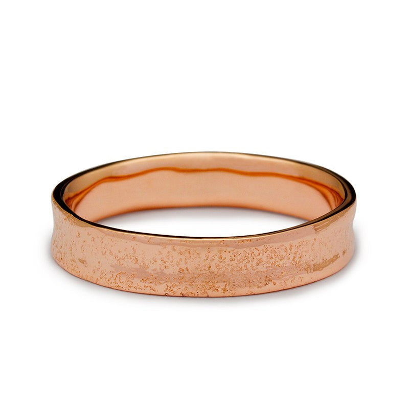 Red Sand Golden Wedding Ring