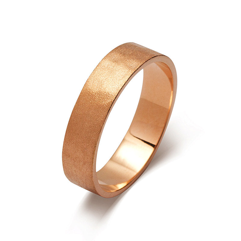 Rose Gold Mens Wedding Band