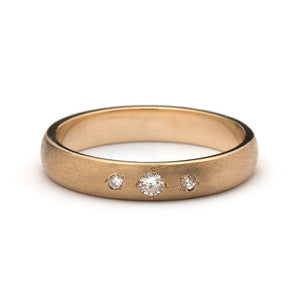 Sofia Three Diamonds Wedding Ring