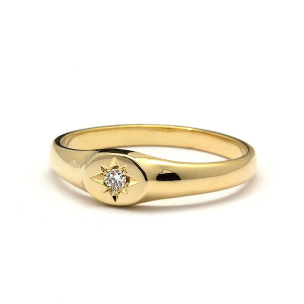 The East Star Diamond Signet Ring