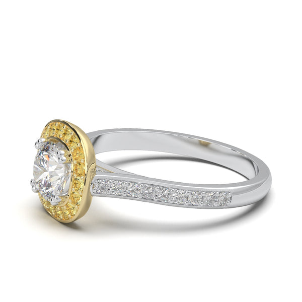 Moissanite Solis Ring
