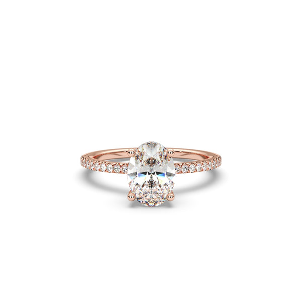 The Fiano Ring Oval Diamond