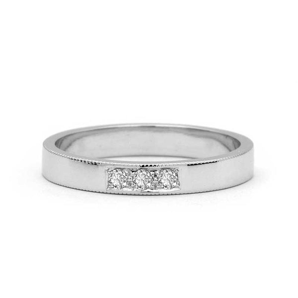 THREE DIAMONDS WEDDING RING