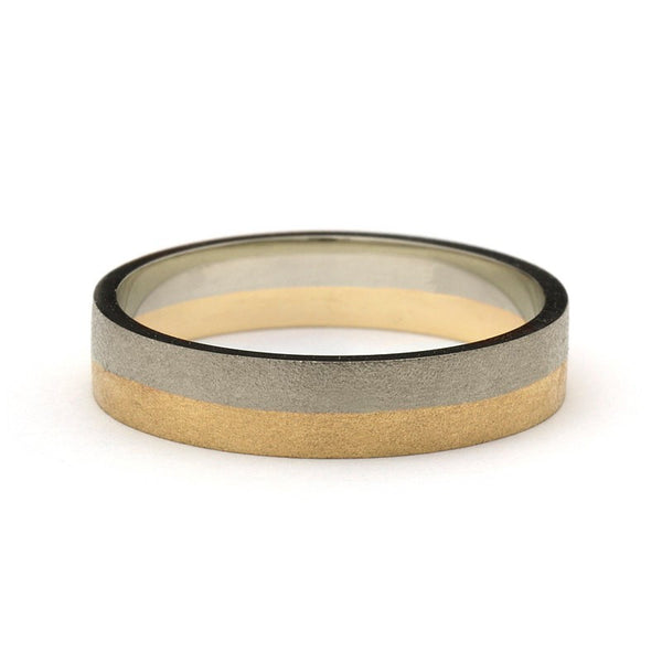 Timeless Sand Two Toned Golden Ring