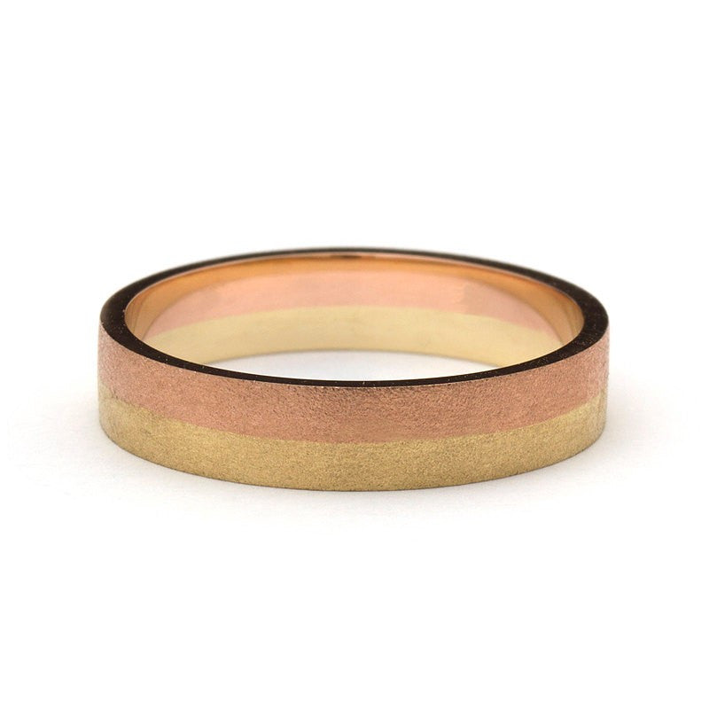 Timeless Sand Yellow And Rose Gold Ring