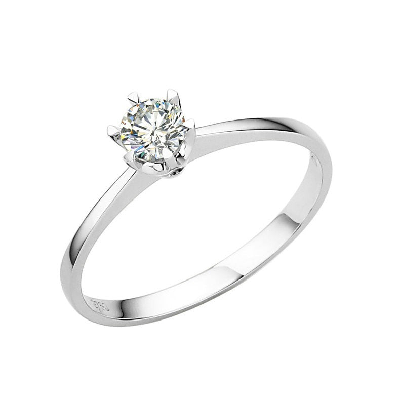 Via Solitaire Engagement Ring