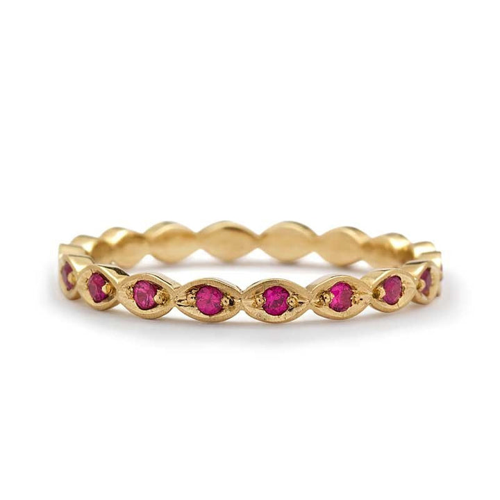ruby wedding band yellow gold