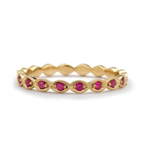 VIOLA RUBY ETERNITY RING