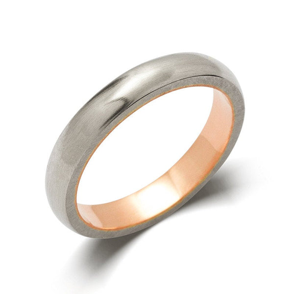Women's Two Tone Wedding Band