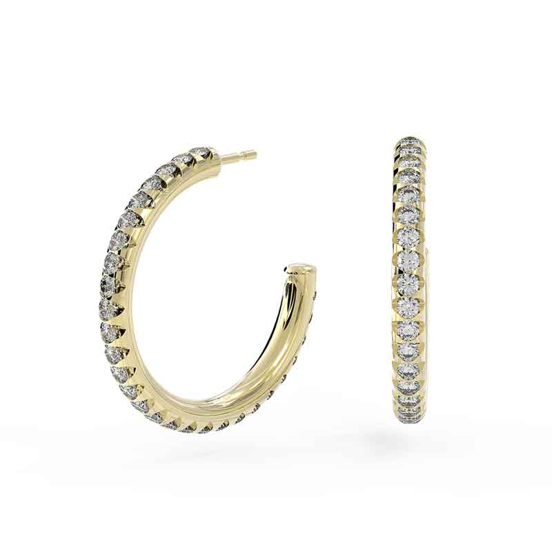 Yellow Gold Diamond Hoop Earrings (1/2 CT. TW)