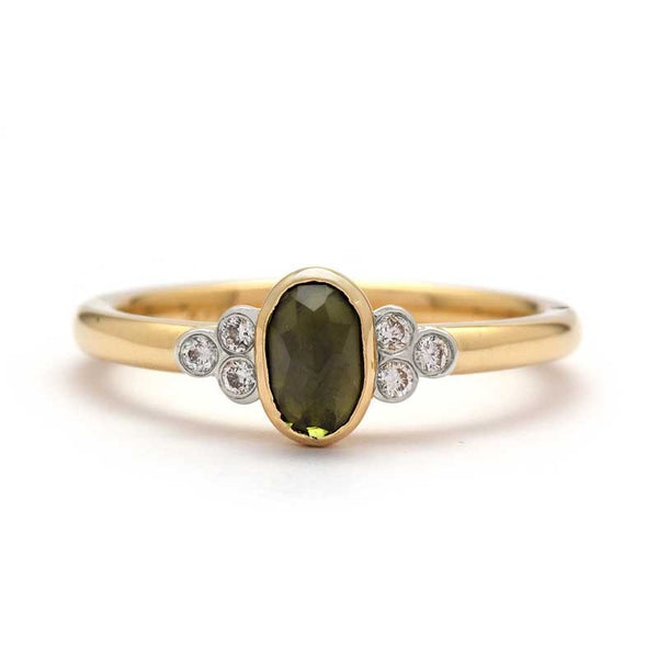 Green Tourmaline Engagement Ring - Juliet & Oliver
