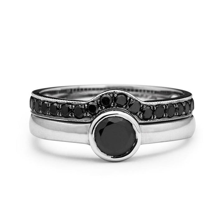 Alesso Black Diamonds Wedding Set