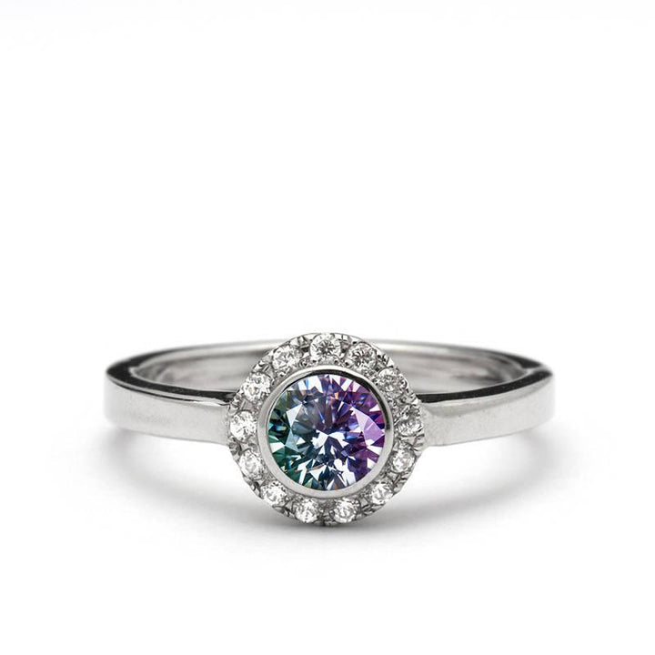 alexandrite engagement ring
