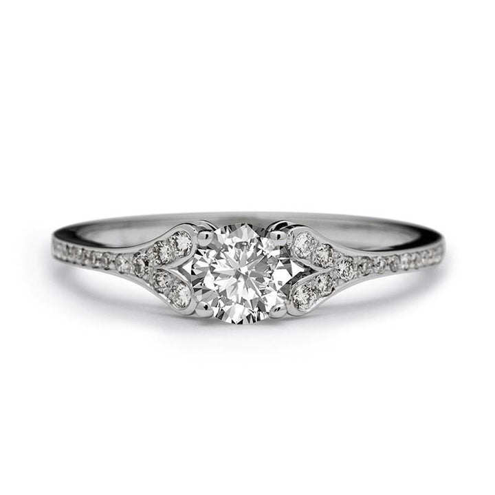 petite diamond engagement ring