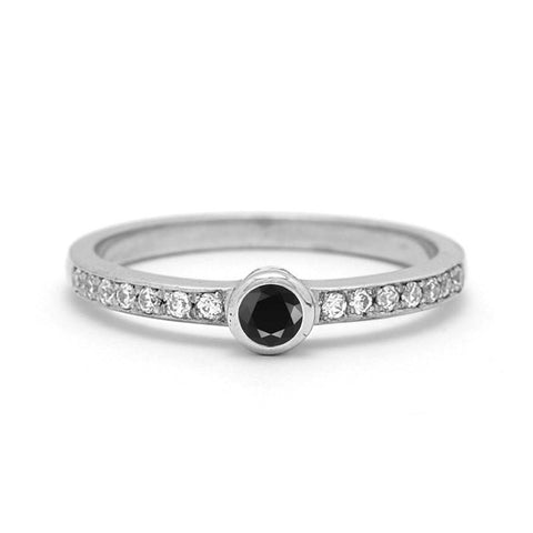 ALISSA BLACK DIAMOND RING
