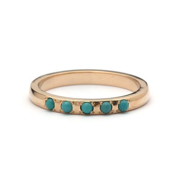 Persian Turquoise Wedding Ring   Aliyah Ring