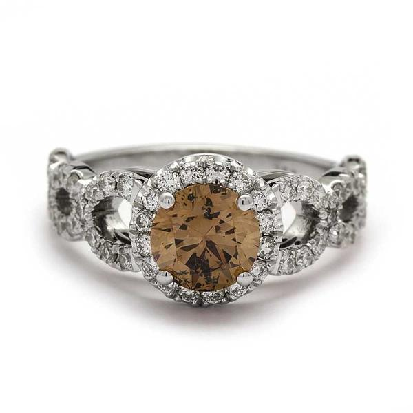 Chocolate Diamond Engagement Ring - The Amore Engagement Ring
