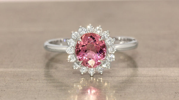 BASILICA RAVENNA PINK TOURMALINE ENGAGEMENT RING