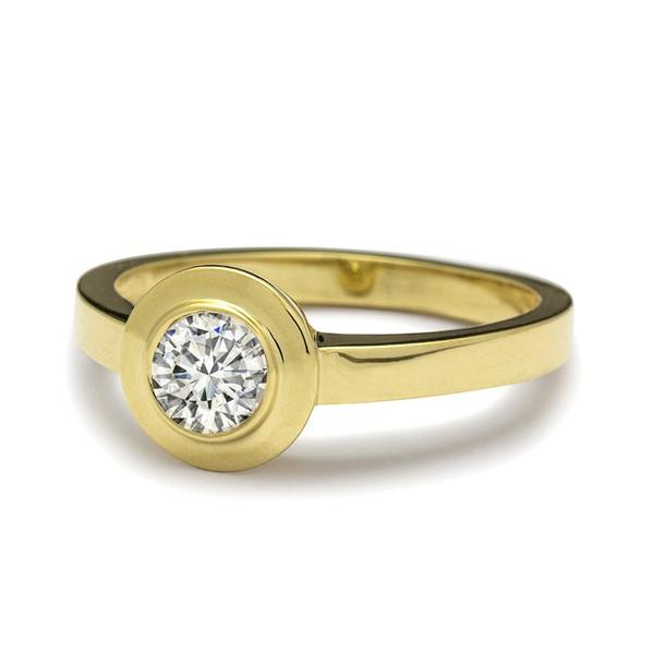 Bella Bezel Set Diamond Ring