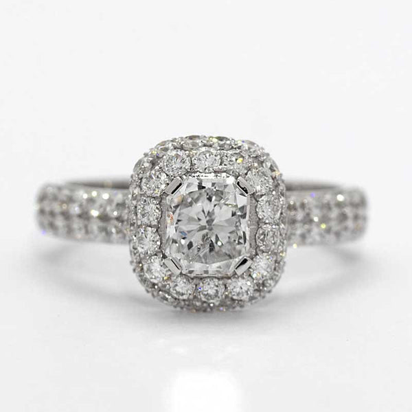 CAMEO DIAMOND ENGAGEMENT RING