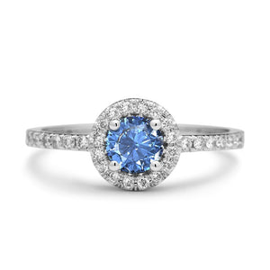Constantia Blue Topaz Engagement Ring